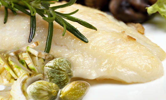 Roasted Sole with Artichokes and Capers