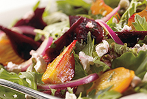 Two-Beet Salad with Champagne Vinaigrette