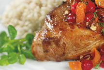 Broiled Pork Chops with Hot Cherry Peppers